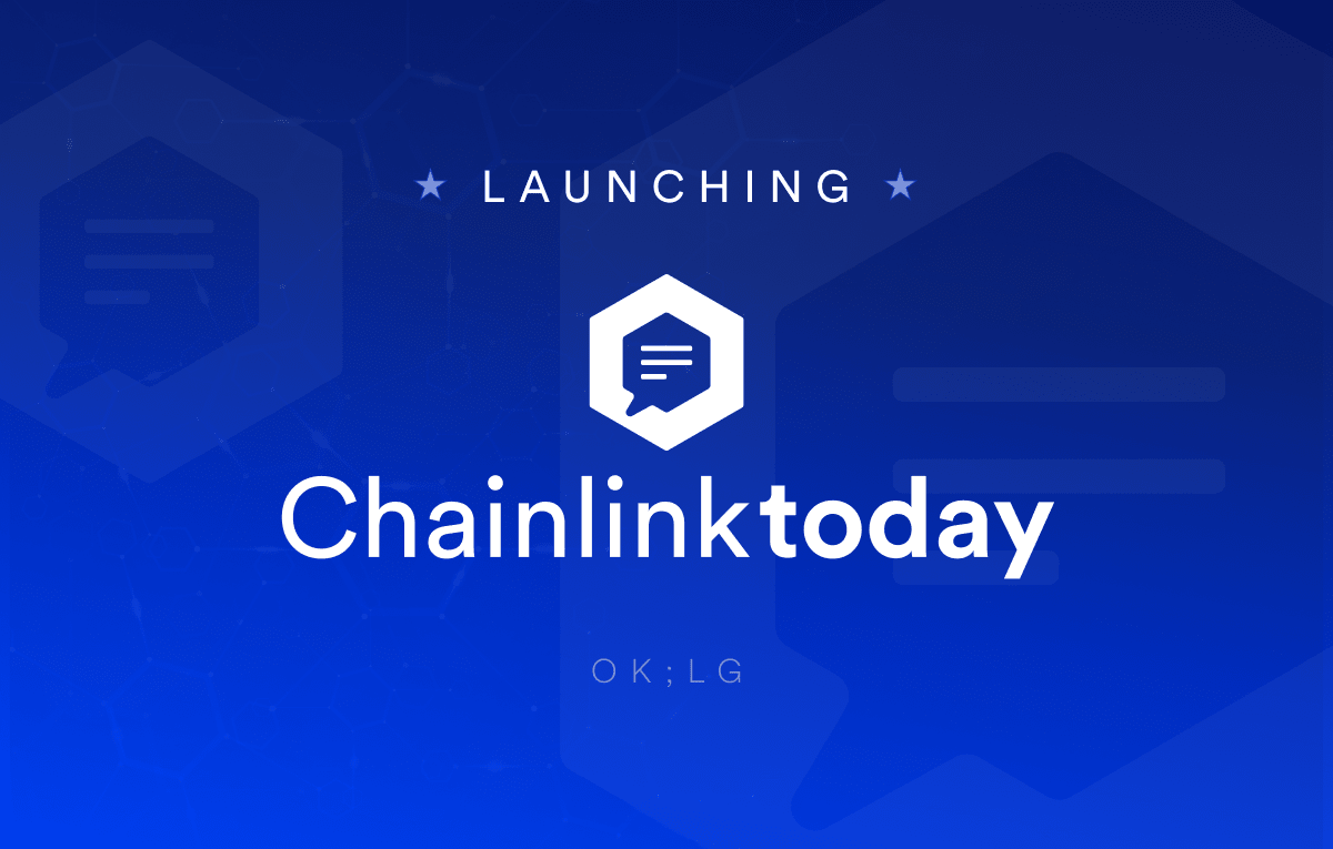 Chainlink Today launch image